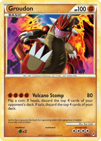 Groudon 6/106 HeartGold & SoulSilver Call of Legends