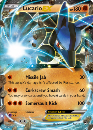 Lucario-EX 54/111 XY Furious Fists