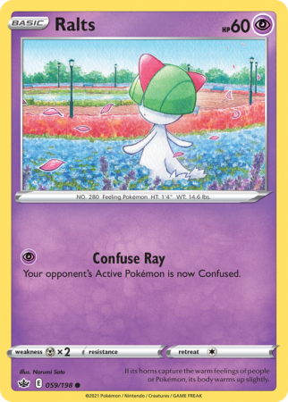 Ralts 59/198 Sword & Shield Chilling Reign