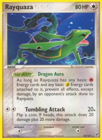 Rayquaza 22/107 EX Deoxys