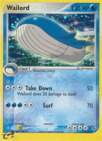 Wailord 14/109 EX Ruby & Sapphire